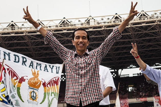Joko Widodo's Supporters Gather For Final Day Of Election Campaigning
